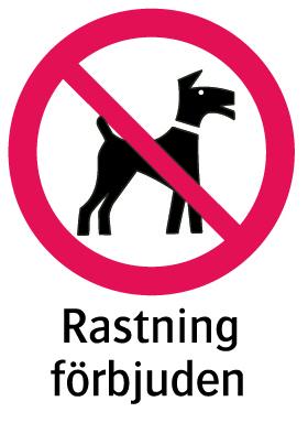 1801 Rastning förbjuden