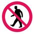 1200 Tillträde förbjudet för gående