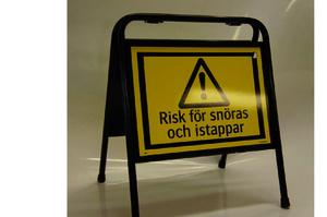 2839 Risk för snöras och istappar